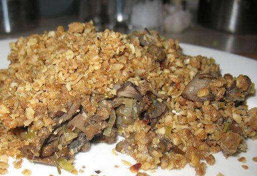 Mushroom & Lentil Crumble