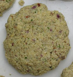 Uncooked falafel