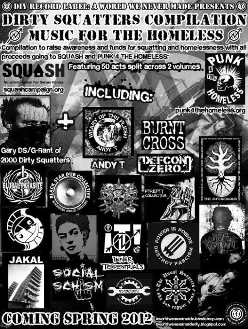 Squatingt benefit CD poster