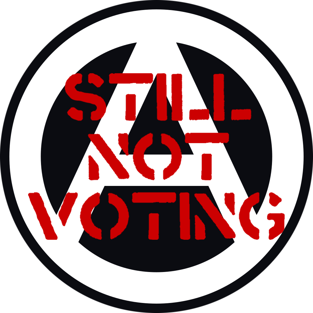 Not voting anarchist graphic